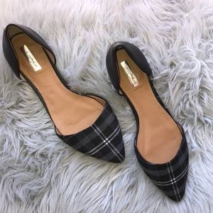 Halogen Plaid Pointed Toe Flat